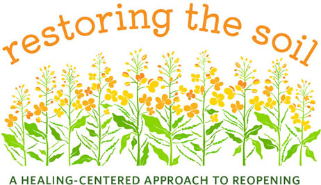 Restoring the Soil logo of mustard seed plants